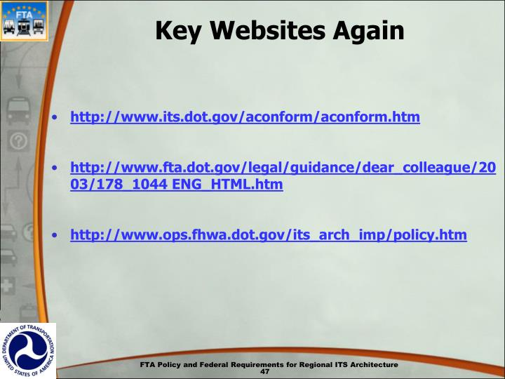 Key Websites Again