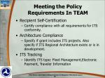 meeting the policy requirements in team