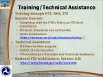 training technical assistance