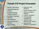 transit its project examples