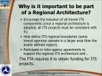 why is it important to be part of a regional architecture