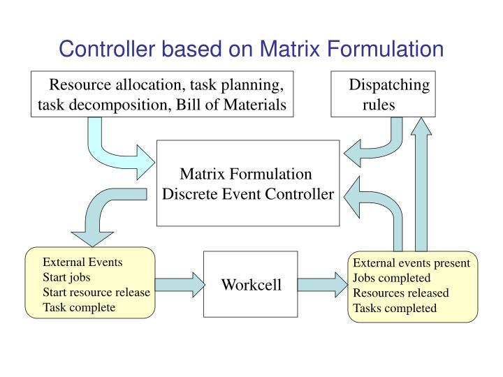 Controller based on Matrix Formulation