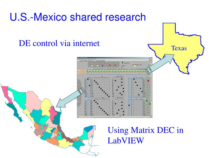 U.S.-Mexico shared research