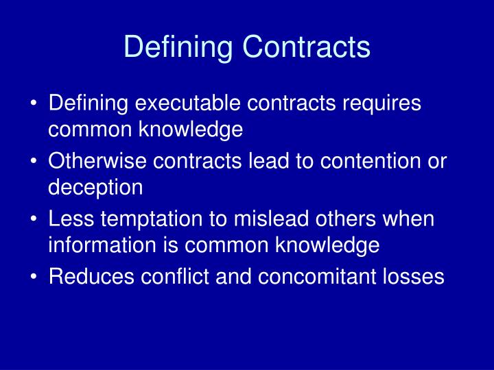 Defining Contracts