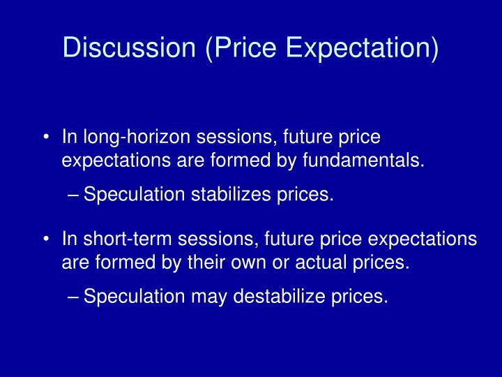 Discussion (Price Expectation)