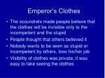 emperor s clothes