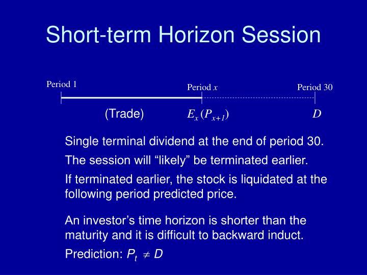 Short-term Horizon Session