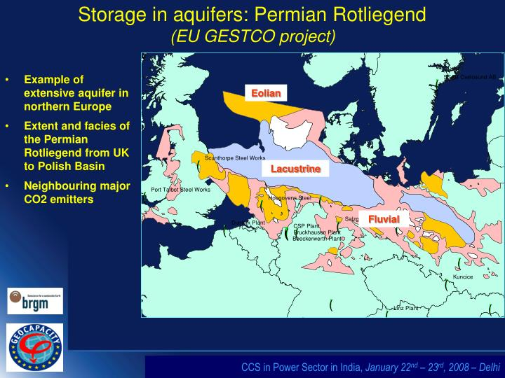 Example of extensive aquifer in northern Europe