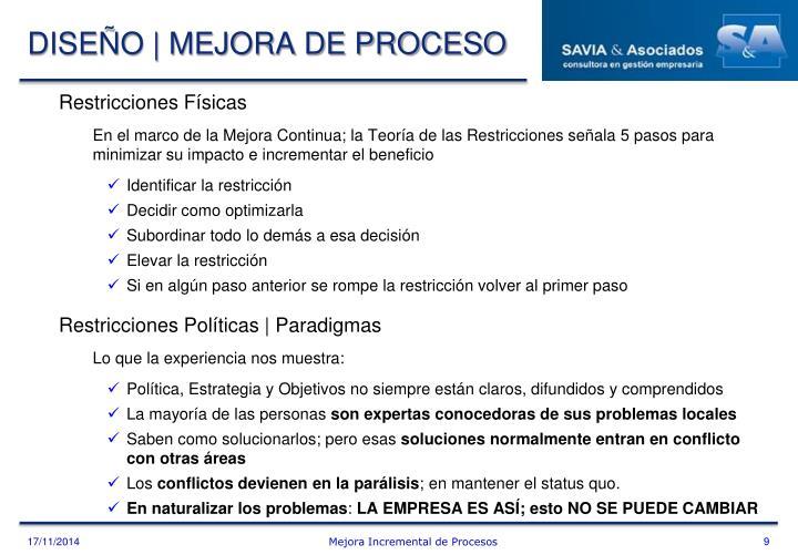 DISEÑO | MEJORA DE PROCESO