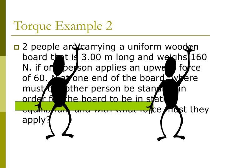 Torque Example 2