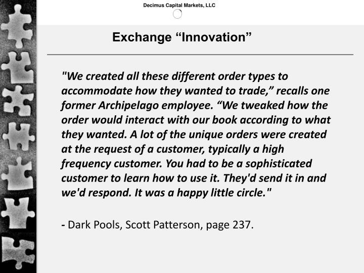 "Exchange ""Innovation"""