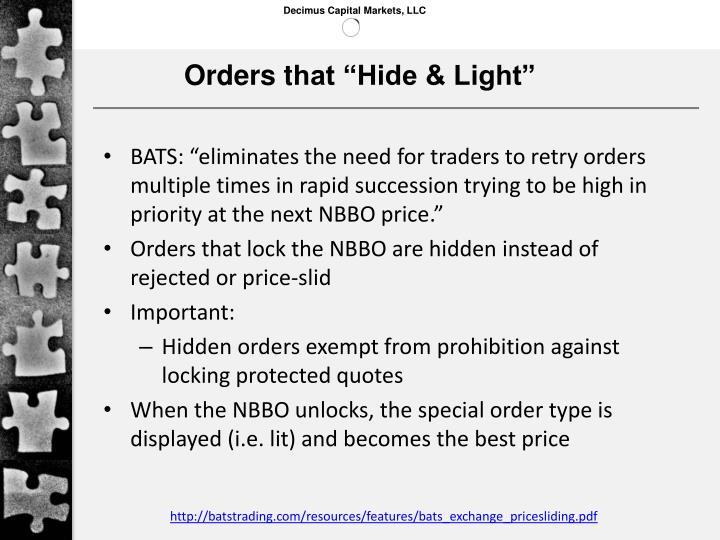 Orders t