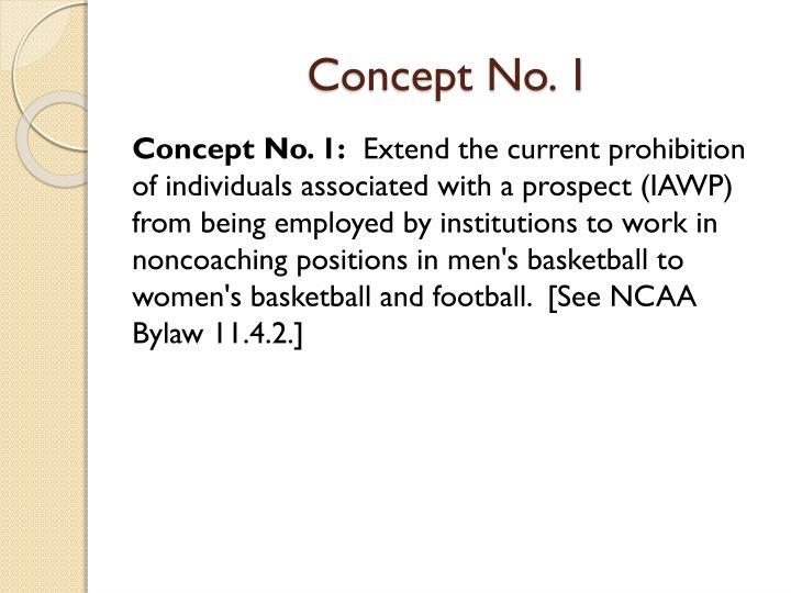 Concept No. 1