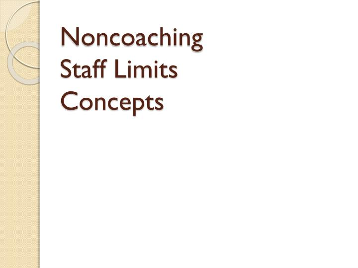 Noncoaching