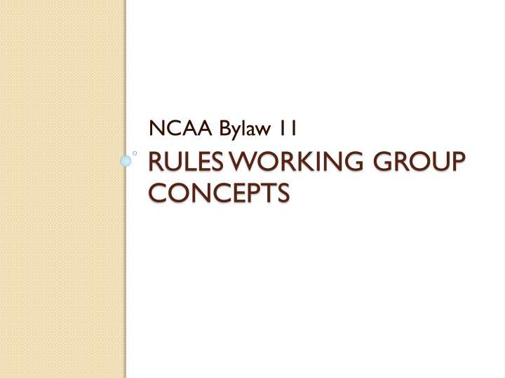 NCAA Bylaw 11
