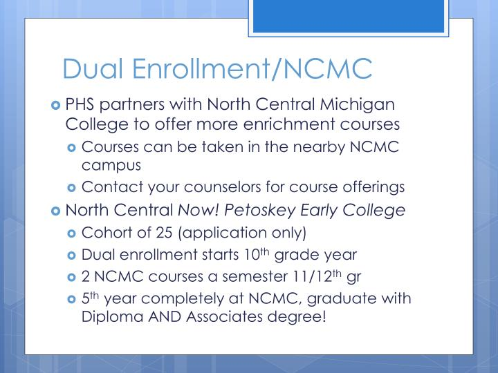 Dual Enrollment/NCMC