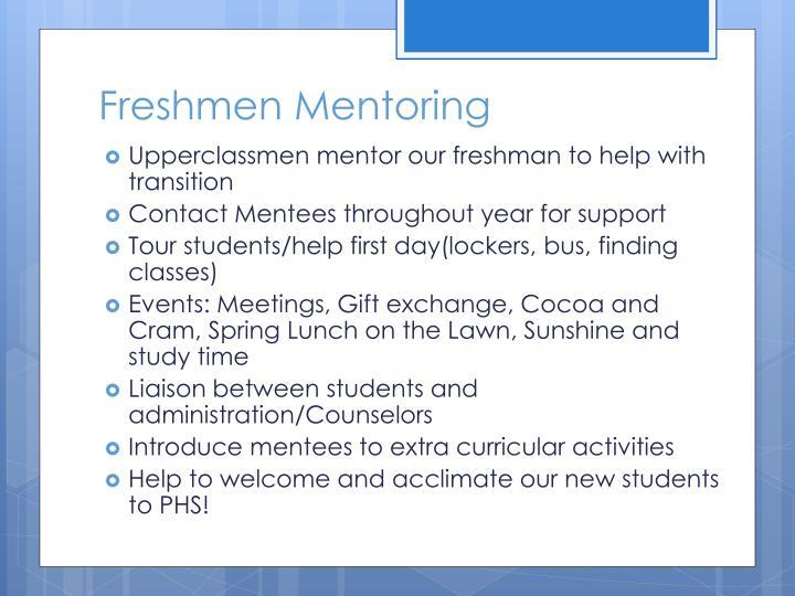 Freshmen Mentoring