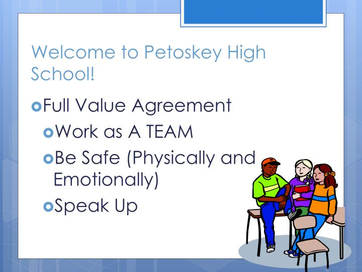 Welcome to Petoskey High School!