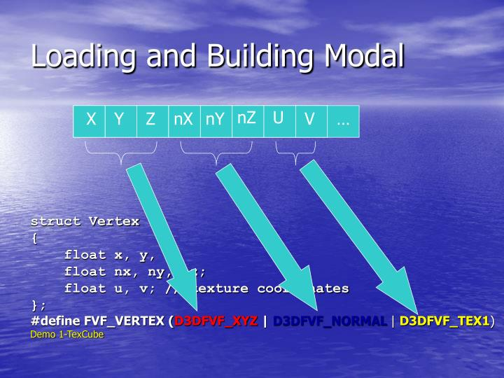 Loading and Building Modal