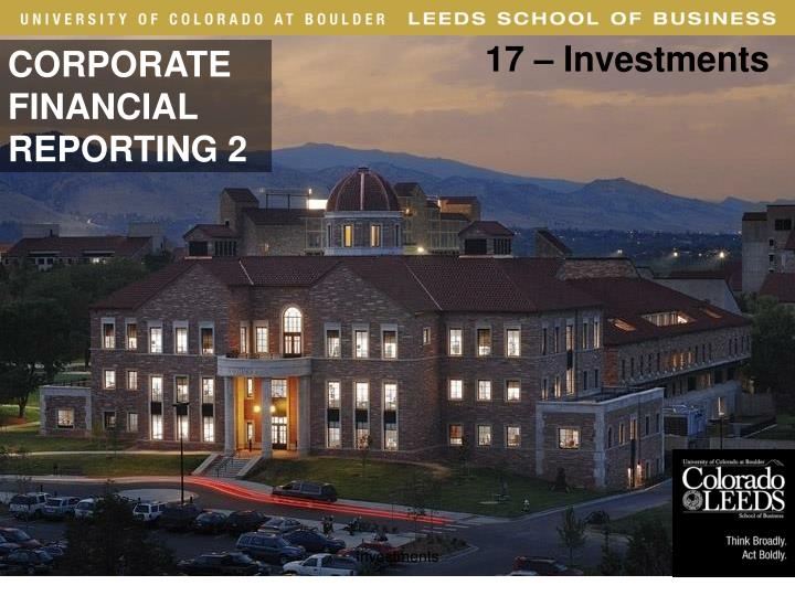 17 – Investments