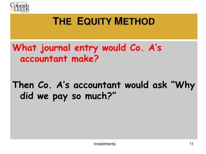 What journal entry would Co. A's accountant make?