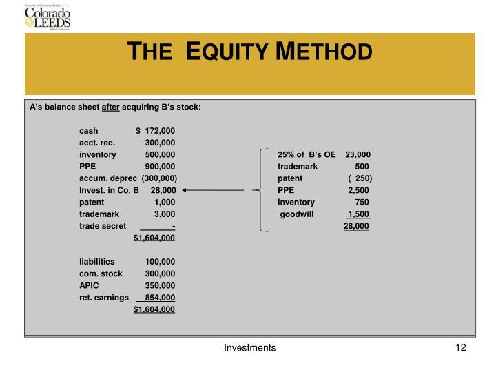 A's balance sheet