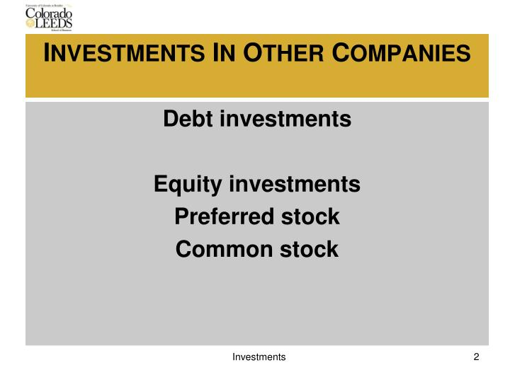 Debt investments