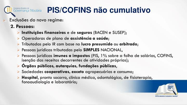 PIS/COFINS não