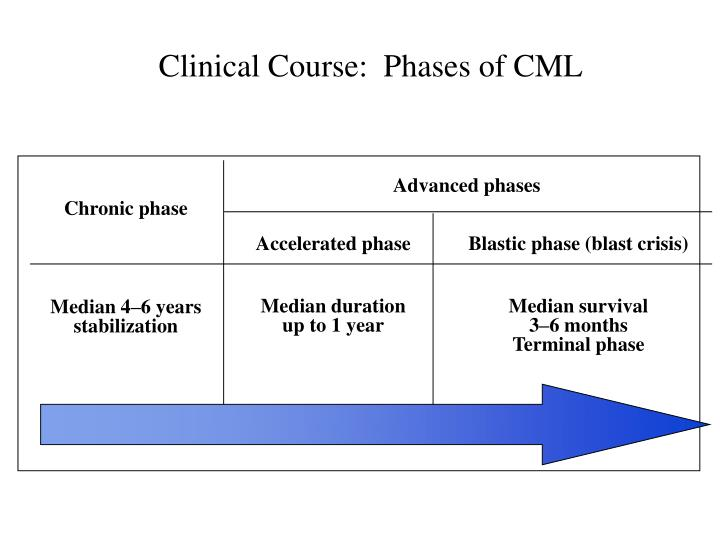 Clinical Course:  Phases of CML