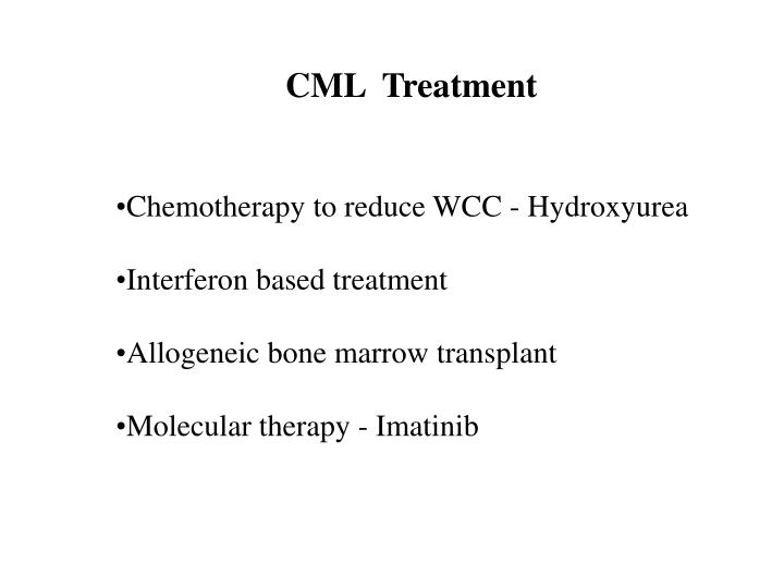CML  Treatment
