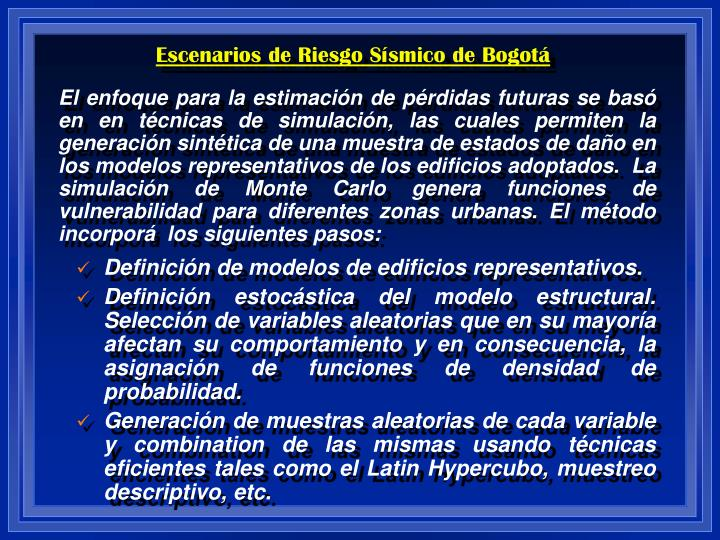 Escenarios de Riesgo Sísmico de Bogotá