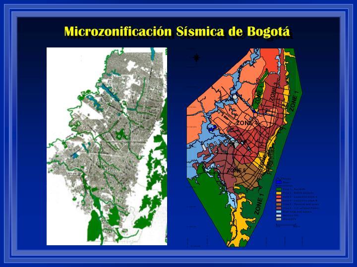 Microzonificación Sísmica de Bogotá