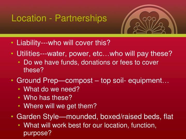 Location - Partnerships