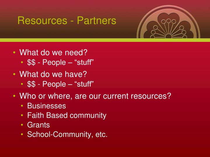 Resources - Partners