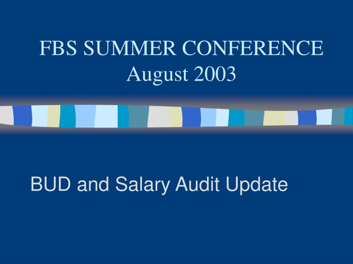 FBS SUMMER CONFERENCE