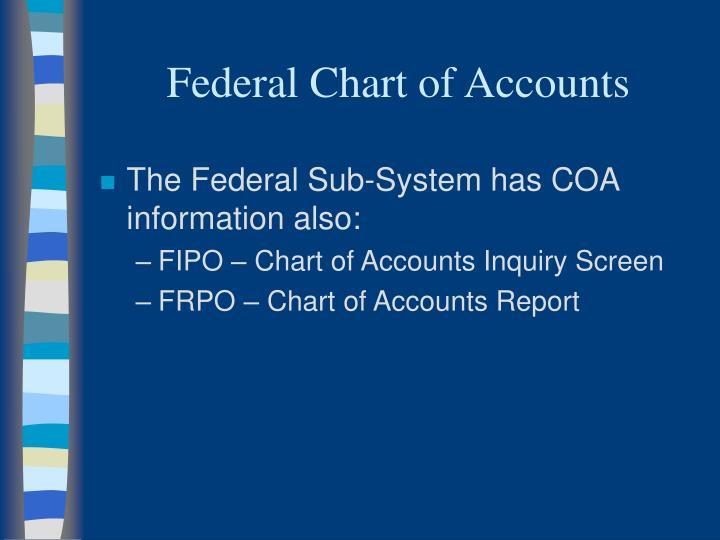Federal Chart of Accounts