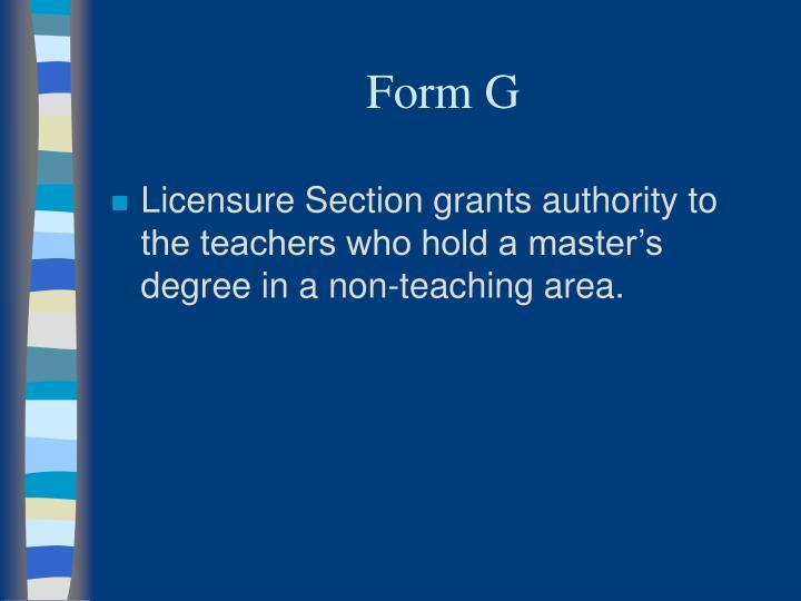 Form G
