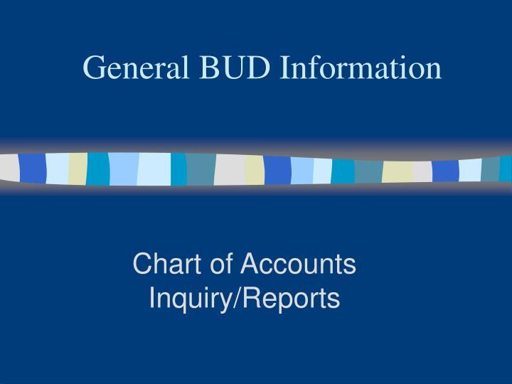 General BUD Information