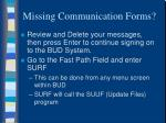 missing communication forms1