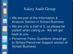 salary audit group