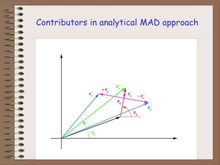 Contributors in analytical MAD approach