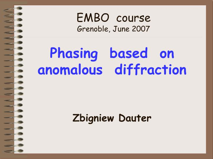 EMBO  course