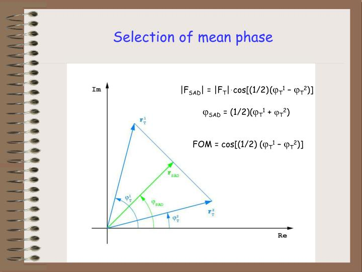 Selection of mean phase