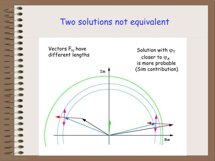 Two solutions not equivalent