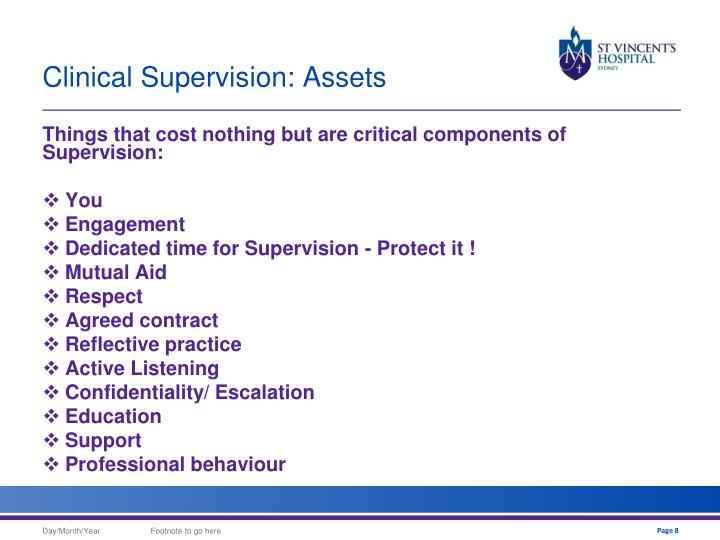 Clinical Supervision: Assets
