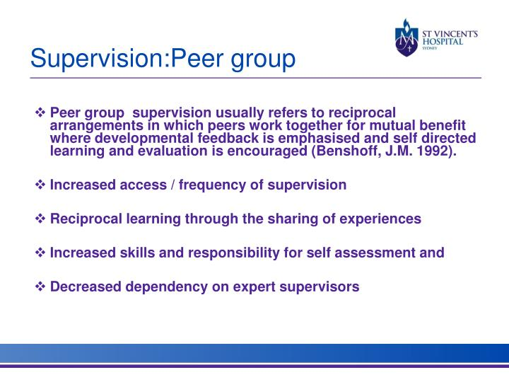 Supervision:Peer