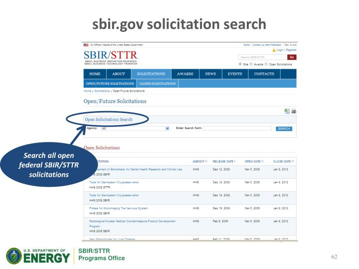 sbir.gov solicitation search