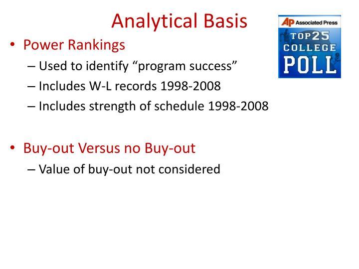 Analytical Basis