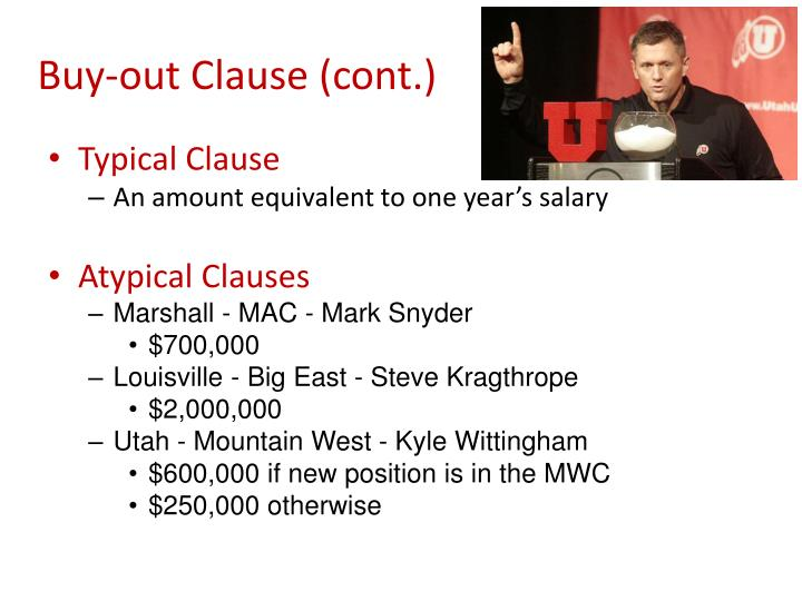Buy-out Clause (cont.)