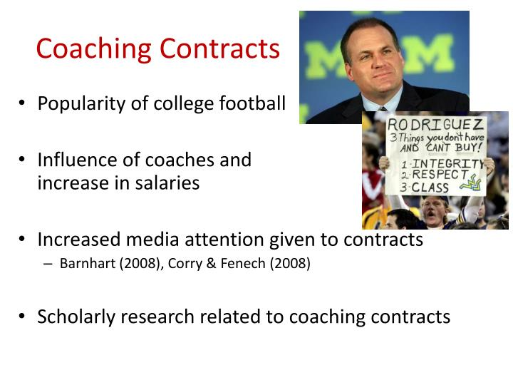 Coaching Contracts